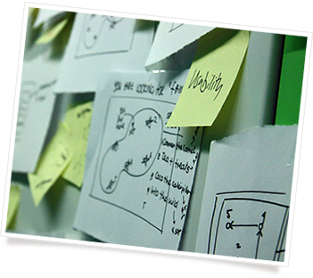 A Post-it note with 'usability' written on it